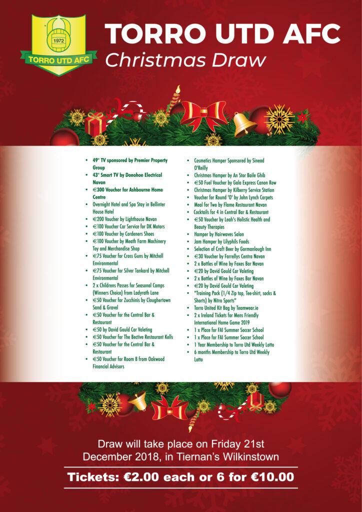 Christmas Fundraiser Flyer.Torro United S Christmas Fundraising Draw Torro Utd Afc